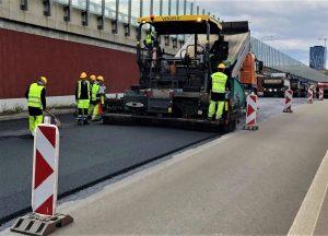 Oprava výjezdu z Královopolského tunelu. Foto: Skanska