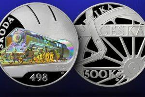 Mince s lokomotivou Albatros. Pramen: ČNB