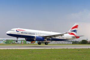 Letadlo British Airways. Pramen: Letiště Praha