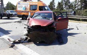 Hromadná nehoda na D35. Foto: Hasiči Olomouc