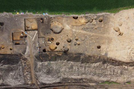 Archeologický výzkum na trase D55. Foto: ŘSD