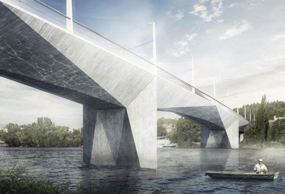Dvorecký most, vizualizace. Pramen: MHMP