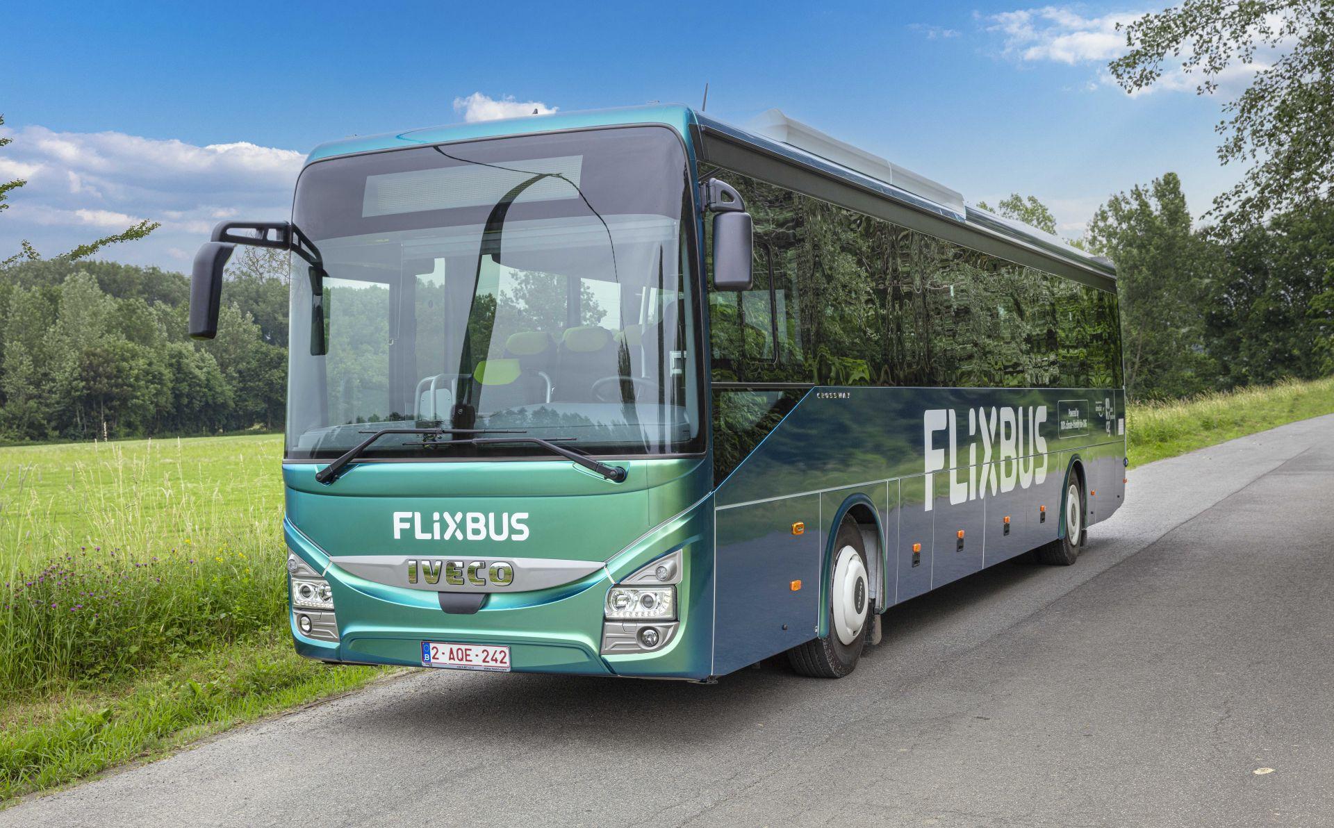 Autobus FlixBusu od výrobce Iveco na bioplyn. Pramen: Iveco Bus