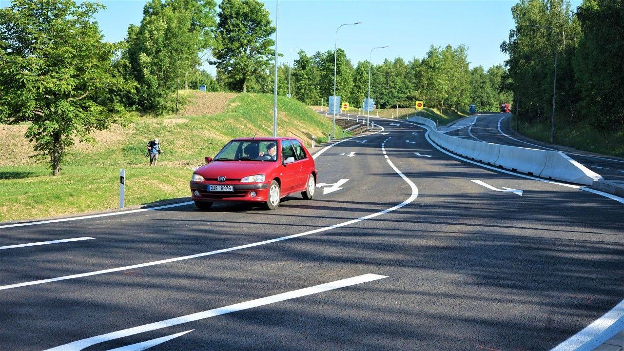 Nový sjezd ze silnici I/38 do ulice Romana Havelky v Jihlavě. Foto: Skanska