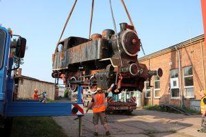 Krnovská parní lokomotiva BS200. Pramen: Město Krnov