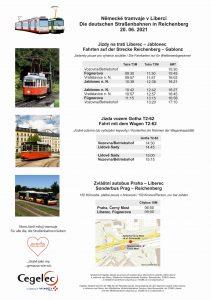 Jízdní řády ke speciálnímu tramvajovému dni v Liberci