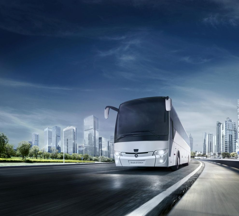 Vizualizace nového autobusu Škoda D'COACH. Foto: Škoda Electric