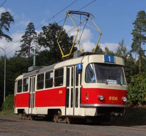 Tramvaj T3M v Liberci v Lidových sadech. Foto: Boveraclub