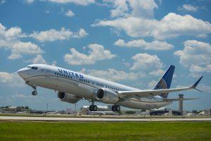 Boeing 737 MAX 9 společnosti United Airlines. Pramen: United Airlines