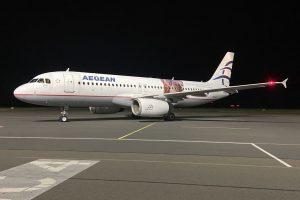 Airbus A320 Aegean Airlines na mošnovském letišti. Foto: Letiště Ostrava