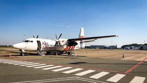 Fokker 50 společnosti Air Antwerp. Foto: Air Antwerp