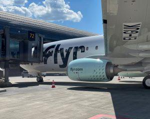 První přílet Boeingu 737-800 společnosti Flyr do Osla. Foto: Avinor