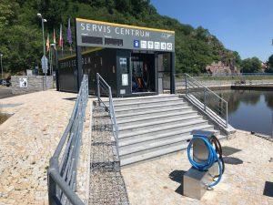 Čerpací stanice v přístavu Hluboká nad Vltavou. Pramen: ŘVC