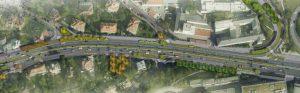 Vizualizace možných úprav ulice v Holešovičkách. Foto: FB Adama Scheinherra