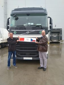 První kamion z Číny do Česka. Foto: DB Schenker