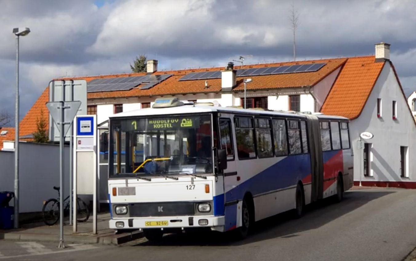 Karosa B741 v českobudějovické MHD. Pramen: YouTube