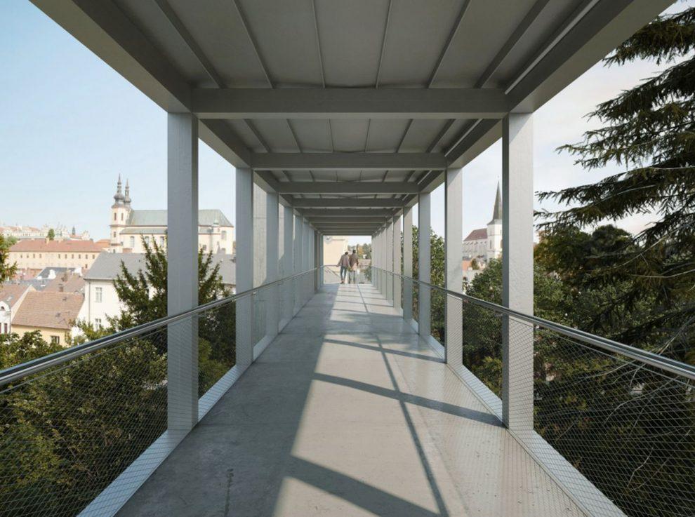Vizualizace nového nadchodu v Litomyšli. Foto: Ehl & Koumar Architekti