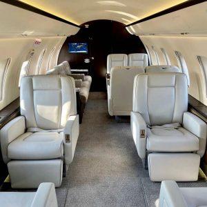 Interiér letadla Bombardier Challenger 605. Foto: Eclair Aviation