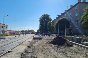 Ostrava, modernizace trati v Pavlovově ulic. Pramen: DPO