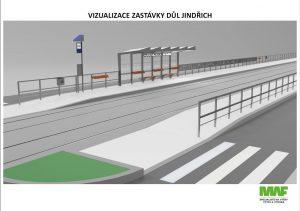 Ostrava, budoucí podoba zastávky Důl Jindřich. Pramen: DPO