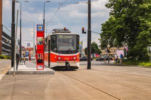 Tramvaj na Pankráci. Foto: DPP
