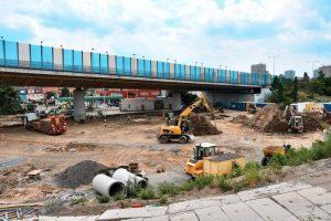 Stavba nové smyčky Zahradní Město. Pramen: ROPID