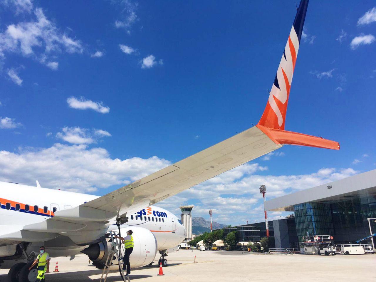 Boeing 737 ve Splitu. Foto. Smartwings