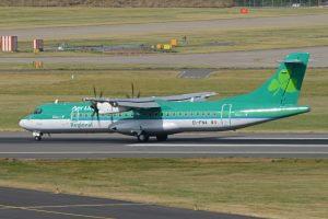 ATR 72 společnosti Stobart Air létající pro Aer Lingus. Foto: Alan Wilson / Flickr.com