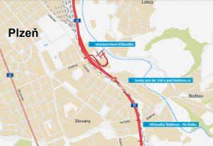 Budoucí trasa I/20 v Plzni pod železniční tratí. Foto: ŘSD