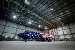 Boeing 737-800 ve speciálním nátěru. Foto: Stephen M. Keller / Southwest Airlines