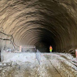 Stavba tramvajového tunelu v Brně v Žabovřeské. Foto: Eurovia CS