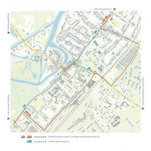 Objízdné trasy ve Veselí nad Moravou. Foto: Městský úřad Veselí nad Moravou