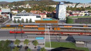 Vizualizace stanice Vsetín po modernizaci. Foto: Správa železnic