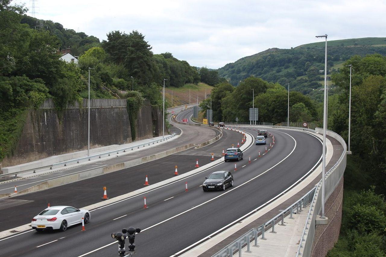 Rozšíření silnice A465 v Gilwernu. Foto: M J Roscoe
