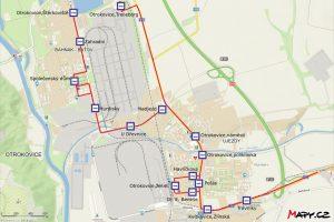 Mapa prodloužení MHD k Trelleborgu. Foto: DSZO
