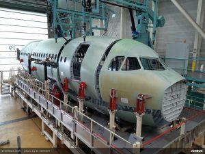 Montáž trupu A321XLR v Saint-Nazare. Foto: Airbus