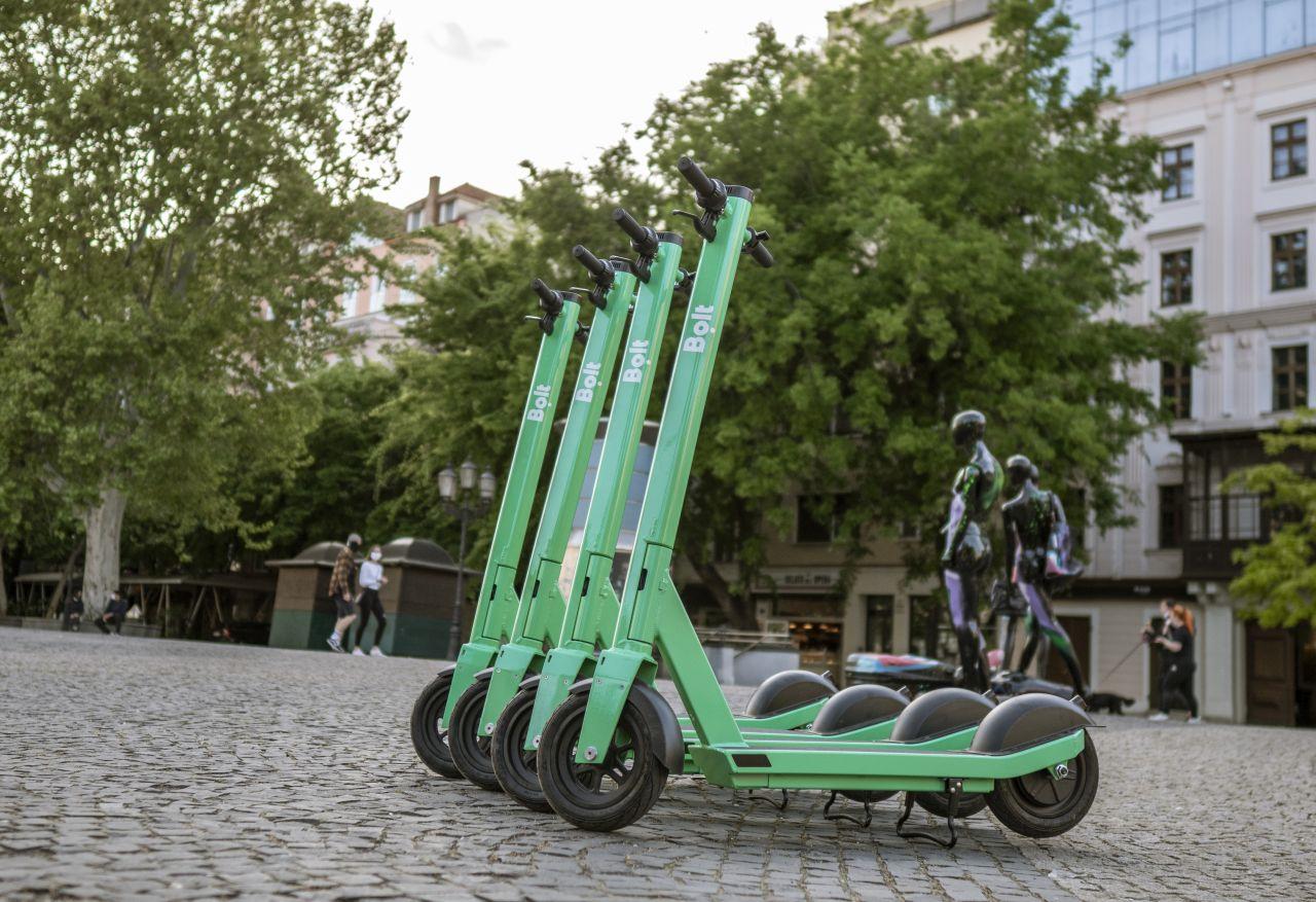 Elektrické koloběžky Bolt v Praze. Foto: Bolt