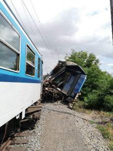 Srážka osobního a lokomotivního vlaku v Němčicích nad Hanou.