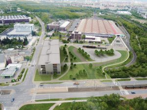 Depo Hostivař, budoucí podoba s parkovacím domem a tramvajovou smyčkou. Pramen: DPP