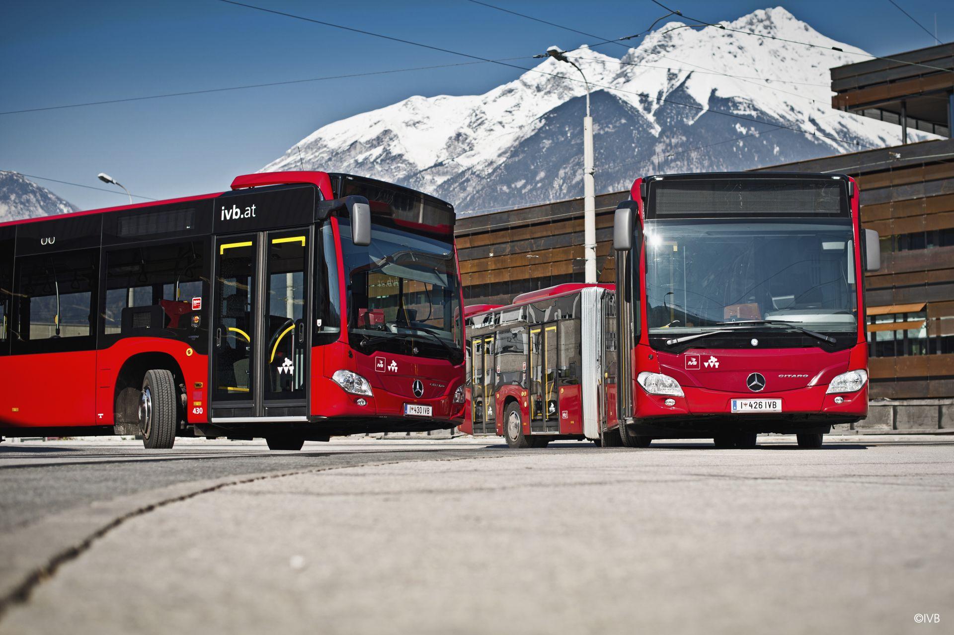 Veřejná doprava v Innsbrucku. Pramen: © IVB