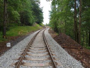 Oprava tratě Dubí - Moldava. Pramen: Správa železnic