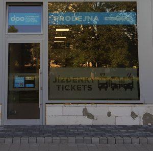 Nová prodejna jízdenek v Porubě. Pramen: DPO