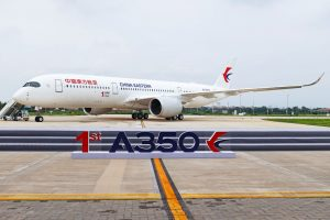 První Airbus A350, jehož částečná výroba probíhala v Číně. Foto: Airbus