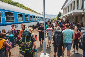 Vlak na Festival Banát v rumunské Oršavě. Foto: Festival Banát