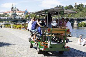 Pivní kolo v Praze. Pramen: Praha.eu