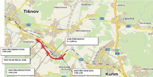 Mapa obchvatu Čebína. Foto: SÚS JMK