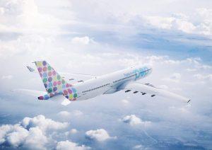 A330-300 v barvách flypop. Foto: flypop