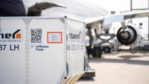 Kontejner pro přepravu zboží v letadlech. Foto: Lufthansa