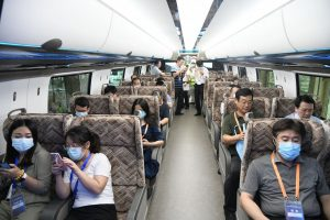 Nový čínský vlak pro rychlost až 600 km/h. Foto: CRRC