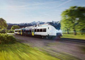 Vizualizace regionální trakční jednotky Mireo Plus H, která bude jezdit na vodík. Foto: Siemens